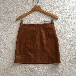 Modern Femme Vegan Suede Mini Skirt- Size 0-
